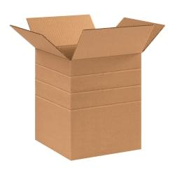 "Office Depot® Brand Multi-Depth Corrugated Cartons, 12"" x 10"" x 10"", Kraft, Pack Of 25"