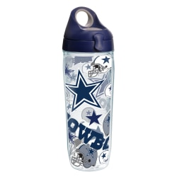 Tervis NFL All-Over Water Bottle With Lid, 24 Oz, Dallas Cowboys