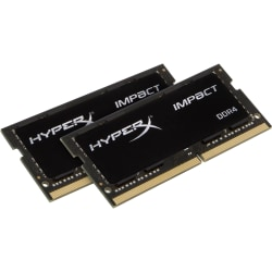 Kingston HyperX Impact 32GB (2 x 16GB) DDR4 SDRAM Memory Kit - 32 GB (2 x 16 GB) - DDR4-2933/PC4-23400 DDR4 SDRAM - 2933 MHz - CL17 - 1.20 V - Non-ECC - Unbuffered - 260-pin - SoDIMM