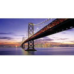 "Biggies Wall Mural, 60"" x 120"", San Francisco Bay Bridge"