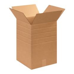 "Office Depot® Brand Multi-Depth Corrugated Cartons, 12"" x 12"" x 18"", Scored 16"", 14"", 12"", 10"", Kraft, Pack Of 25"