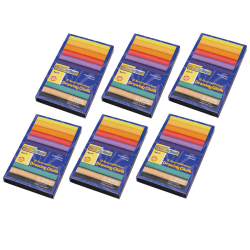 """Creativity Street Drawing Chalk, 3"""", Assorted Colors, 12 Pieces Per Box, Pack Of 6 Boxes"""