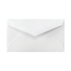 "LUX Mini Envelopes With Moisture Closure, #3, 2 1/8"" x 3 5/8"", Bright White, Pack Of 1,000"