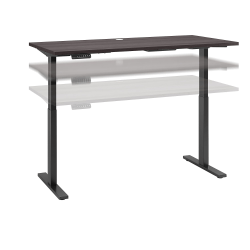 "Bush Business Furniture Move 60 Series 60""W x 30""D Height Adjustable Standing Desk, Storm Gray/Black Base, Standard Delivery"