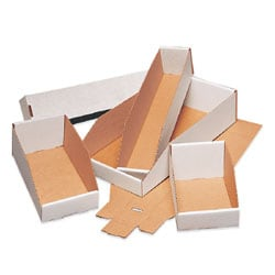 "Office Depot® Brand Standard-Duty Open-Top Bin Storage Boxes, 18"" x 6"" x 4 1/2"", Oyster White, Case Of 50"