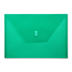 "Lion VELCRO®-Closure Poly Envelope, 13"" x 9 3/8"", Green"