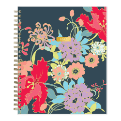 """Blue Sky™ Trina Turk Weekly/Monthly Planner, 7"""" x 9"""", Botanical Floral, January To December 2020, 117509"""