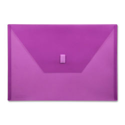 """Lion VELCRO®-Closure Poly Envelope, 13"""" x 9 3/8"""", Purple"""