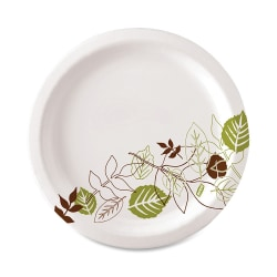 "Dixie® Paper Plates, 6-7/8"", Pathways Design, Pack Of 125 Plates"
