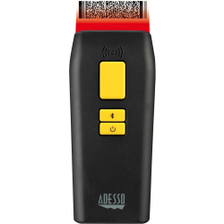 """Adesso NuScan 3500TB Bluetooth Antimicrobial Waterproof 2D Barcode Scanner - Wireless Connectivity - 300 scan/s - 12"""" Scan Distance - 1D, 2D - CCD - Bluetooth - USB - IP66 - Healthcare, Logistics, Library, Warehouse, Retail"""