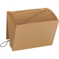 Smead® Recycled Kraft Expanding File With Flap, 1-31, Letter Size, Brown