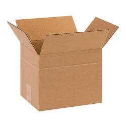 "Office Depot® Brand Multi-Depth Corrugated Cartons, 10"" x 8"" x 8"", Scored 6"", Kraft, Pack Of 25"