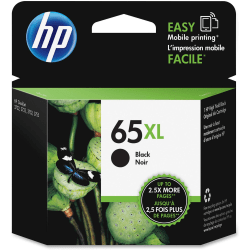 HP 65XL High-Yield Black Ink Cartridge (N9K04AN#140)