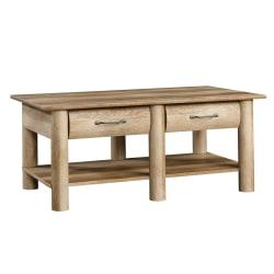 "Sauder® Boone Mountain Coffee Table, 18""H x 43""W x 23-1/2""D, Craftsman Oak"