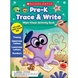 Scholastic® Pre-K Trace & Write Wipe-Clean Activity Book