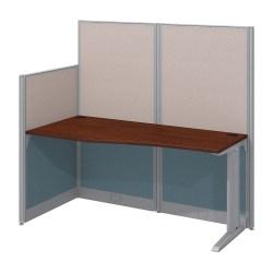 Bush Business Furniture Office In An Hour Straight Workstation, Hansen Cherry Finish, Premium Installation