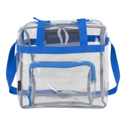 "Eastsport Clear Stadium Tote Bag, 12""H x 12""W x 6""D, Royal Blue"