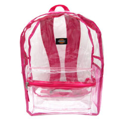 Dickies® Clear PVC Laptop Backpack, Pink