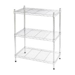 "Realspace® Wire Shelving, 3-Shelves, 30""H x 23""W x 13""D, Chrome"