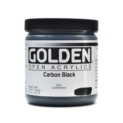 Golden OPEN Acrylic Paint, 8 Oz Jar, Carbon Black