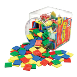 Learning Resources® Square Color Tiles, Ages 3-12, Assorted Colors, Pack Of 400