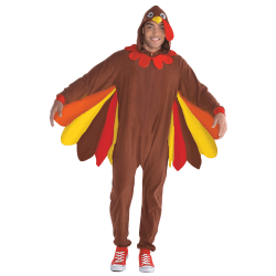 Amscan Adults' Thanksgiving Turkey Zipster Costume, Small/Medium
