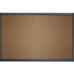 "Quartet® Select Prestige™ Color Cork Bulletin Board, 36"" x 48"", Aluminum Frame With Graphite Finish"