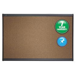 "Quartet® Select Prestige™ Color Cork Bulletin Board, 48"" x 72"", Aluminum Frame With Graphite Finish"