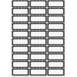 Ashley Dry Erase Black/White Dots Nameplate Magnets - Magnetic - Dotted - Die-cut, Write on/Wipe off - Black, White - 1 Pack