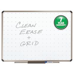 """Quartet® Prestige™ Euro Total Erase® Dry-Erase Whiteboard, 18"""" x 24"""", Metal Frame With Titanium Finish"""