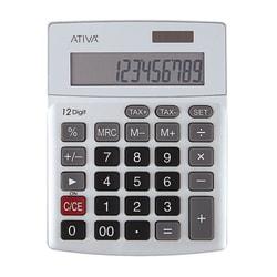 Ativa® KC-421 12-Digit Desktop Calculator, Silver