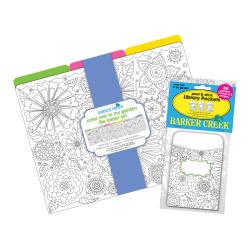 """Barker Creek Folder/Pocket Set, 9"""" x 12"""", Color Me! In My Garden, Set of 42"""