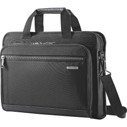 "Samsonite Carrying Case for 15.6"" Notebook - Black - Ethylene Vinyl Acetate (EVA) - Shoulder Strap, Handle - 13"" Height x 3.5"" Width x 17"" Depth"