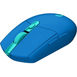Logitech G305 LIGHTSPEED Wireless Gaming Mouse - Travel Mouse - Optical - Wireless - Radio Frequency - 2.40 GHz - Blue - 12000 dpi - 6 Button(s)