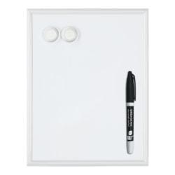 "FORAY™ Mini Magnetic Dry-Erase Whiteboard, Steel, 14"" x 11"", Silver Aluminum Frame"