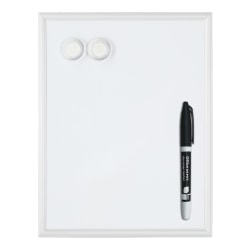 "Office Depot® Brand Mini Magnetic Dry-Erase Whiteboard, 11"" x 14"", Aluminum Frame With Silver Finish"