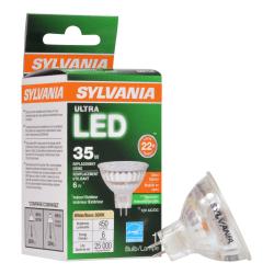 Sylvania LEDvance MR16 Dimmable 450 Lumens LED Light Bulbs, 6 Watt, 3000 Kelvin/Warm White, Case Of 6 Bulbs