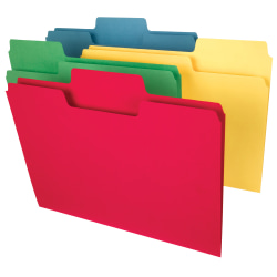 Smead® SuperTab® Heavyweight File Folders, Letter Size, Assorted Colors, Box Of 50