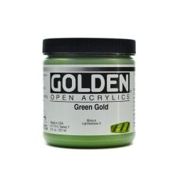 Golden OPEN Acrylic Paint, 8 Oz Jar, Green Gold
