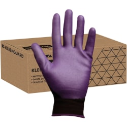 KleenGuard G40 Foam Nitrile Coated Gloves - 9 Size Number - Nylon - Purple - Abrasion Resistant, Seamless - 12 / Pack