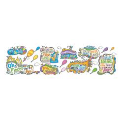 Eureka Dr. Seuss™ Oh The Places You'll Go Bulletin Board Set, Multicolor, Kindergarten - Grade 12