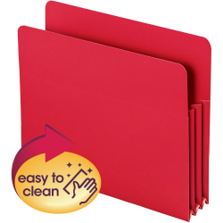 """Smead® Poly Expanding File Pockets, Letter Size, 3 1/2"""" Expansion, Red, Pack Of 4"""