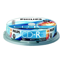Philips CR7D5NP10 - 10 x CD-R - 700 MB (80min) 52x - spindle