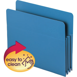 "Smead® Poly Expanding File Pockets, Letter Size, 3 1/2"" Expansion, Blue, Pack Of 4"