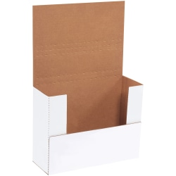 """Office Depot® Brand Multi-Depth Bookfold Mailers, 11 1/8"""" x 8 5/8"""" x 4"""", White, Pack Of 50"""
