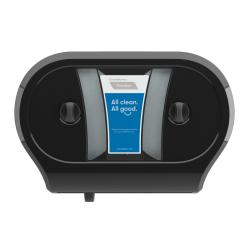 "Tandem® Double JRT Bathroom Tissue Dispenser, 22 3/8""H x 15 5/16""W x 6 1/2""D, Black"