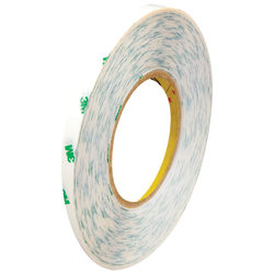 """3M™ 9085 Adhesive Transfer Tape, 3"""" Core, 0.25"""" x 60 Yd., Clear, Case Of 144"""