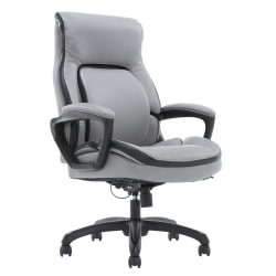 Shaquille O'Neal™ Amphion Ergonomic Bonded Leather High-Back Executive Chair, Gray
