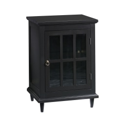 "Sauder® Barrister Lane Side Table Display Cabinet, 27""H x 18-7/8""W x 15-3/4""D, Black"