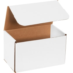 """Office Depot® Brand White Corrugated Mailers, 10"""" x 6"""" x 6"""", Pack Of 50"""